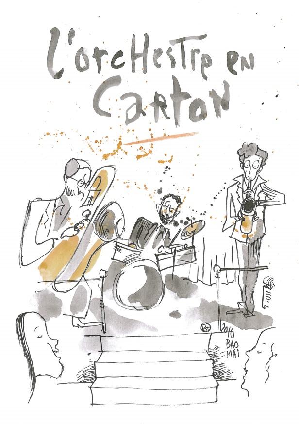 L'orchestre en carton visuel